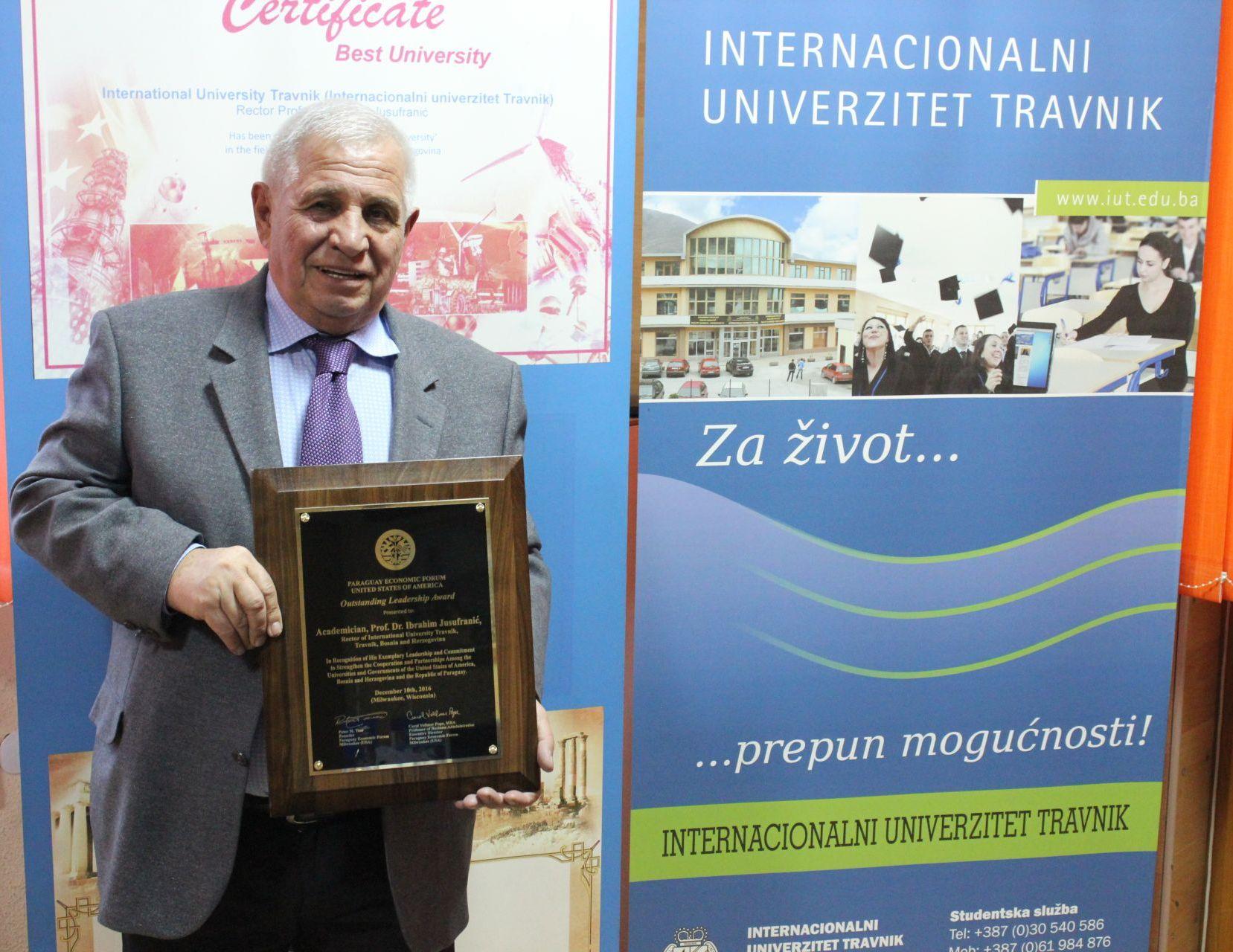 """Rektor IUT, Akademik, Prof.dr. Ibrahim Jusufranić"""